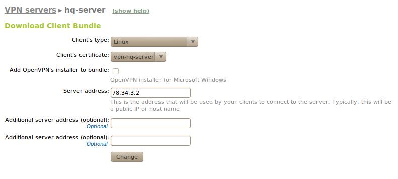 Virtual private network (VPN) service with OpenVPN — Zentyal 2 2
