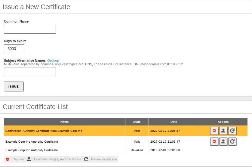 Certification authority (CA) — Zentyal 6 0 Documentation