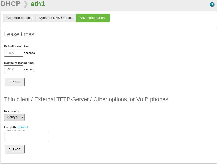 Network configuration service (DHCP) — Zentyal 6 0 Documentation