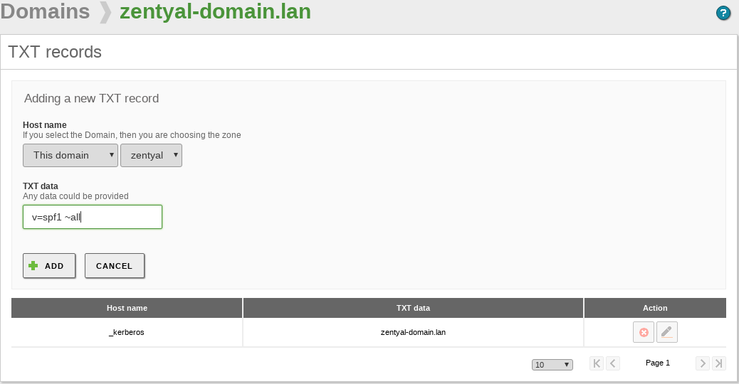 Domain Name System (DNS) — Zentyal 6 0 Documentation