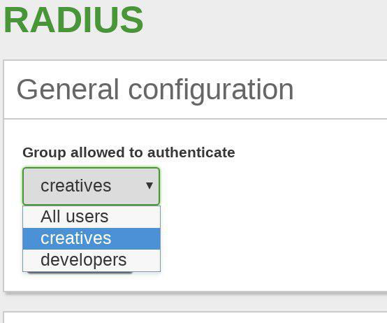 Network authentication service (RADIUS) — Zentyal 6 0